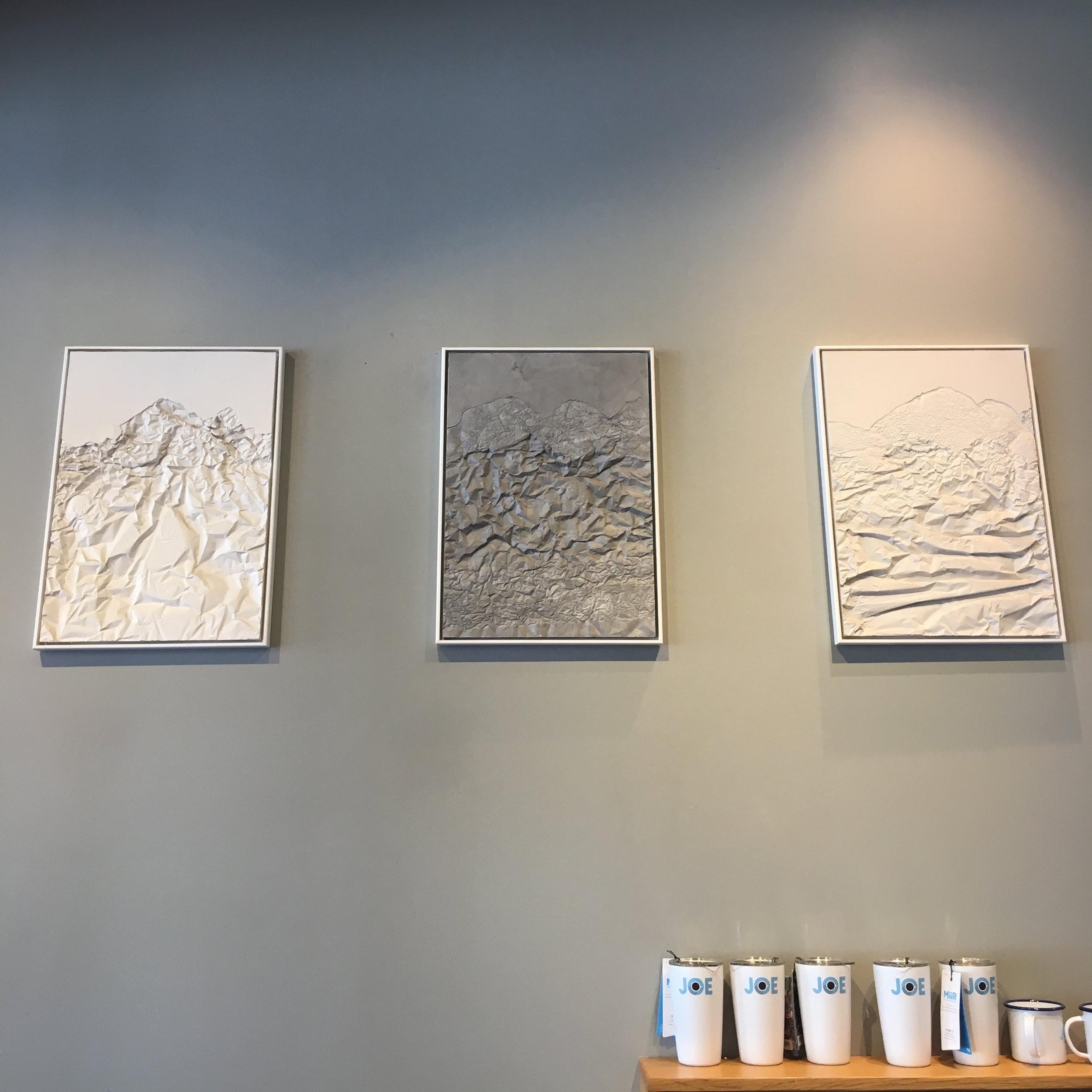 Artwork by  Pajtim Osmanaj  at Joe's Coffee on UWS. Photo cred: YPA NYC