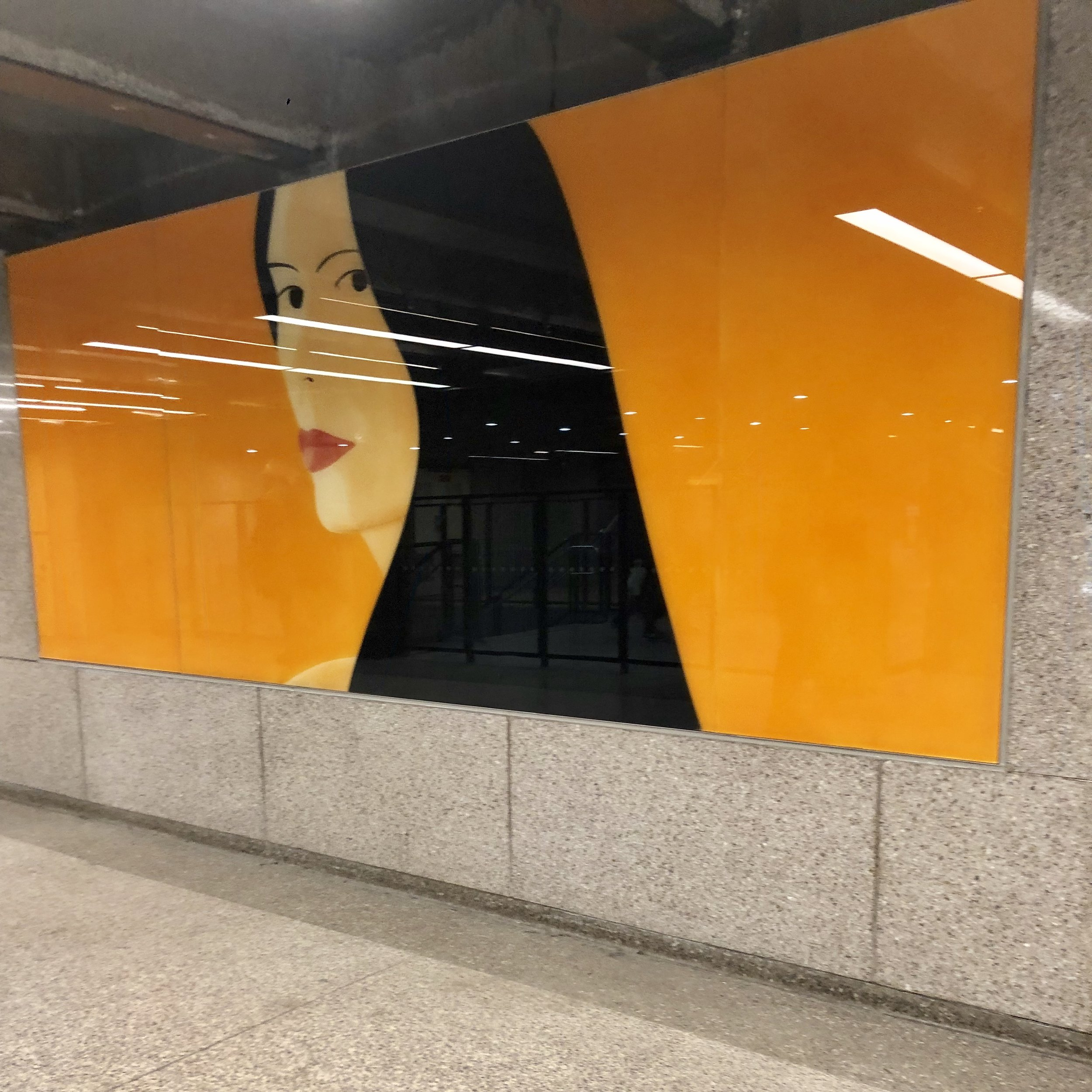 Alex Katz for MTA at the 57th Street F-train station. Photo Cred: YPA NYC