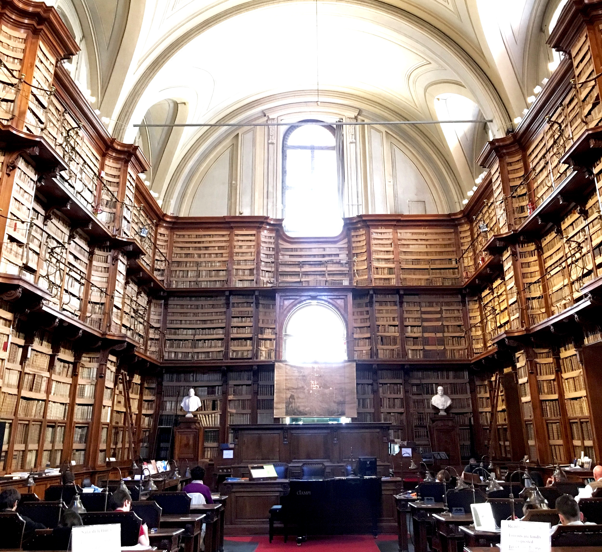 Biblioteca Angelica in Rome, Italy. Photo cred: YPA NYC