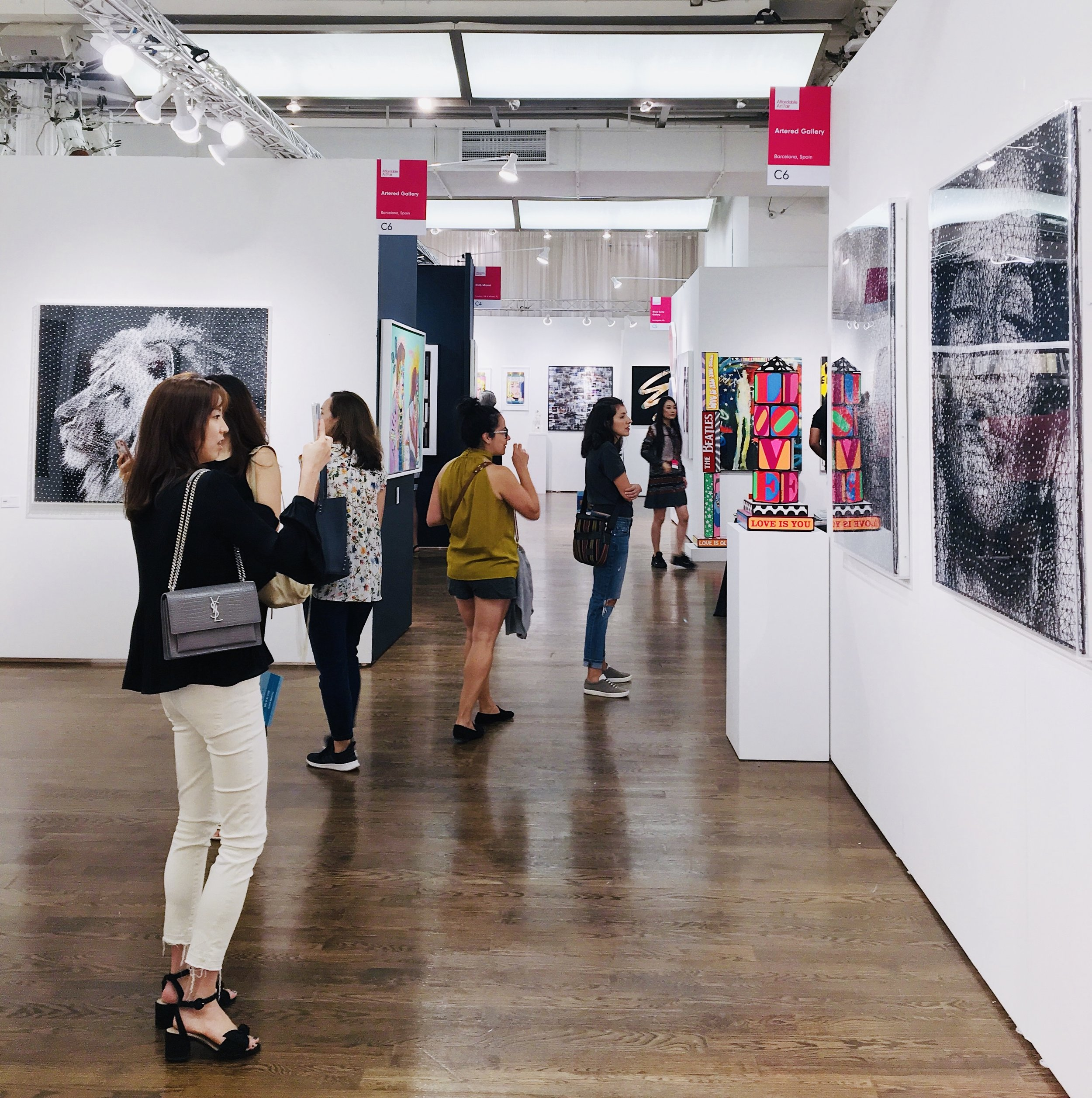 The  Affordable Art Fair  Fall 2019. Photo cred: Mara Vlatkovic, YPA NYC