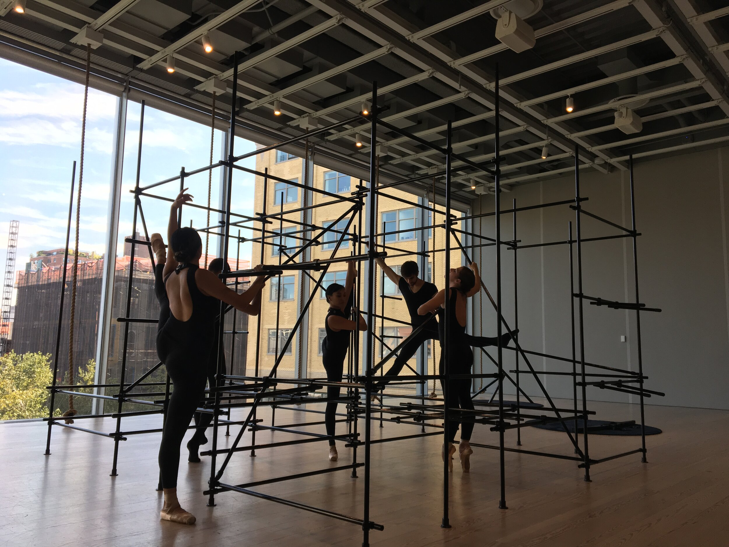 The Master and Form  by Brendan Fernandes at the Whitney Biennial. Photo cred: Mara Vlatkovic, YPA NYC. Photo cred: Mara Vlatkovic, YPA NYC
