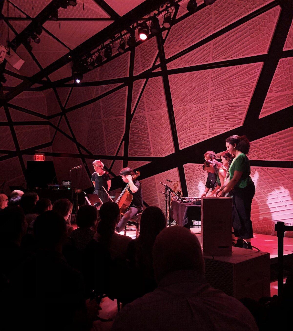 "National Sawdust+ presents : Jad Abumrad's ""Covering Home"" with Caroline Shaw, Andrew Yee, Bora Yoon, and Shelley Washington. Photo cred: YPA NYC"