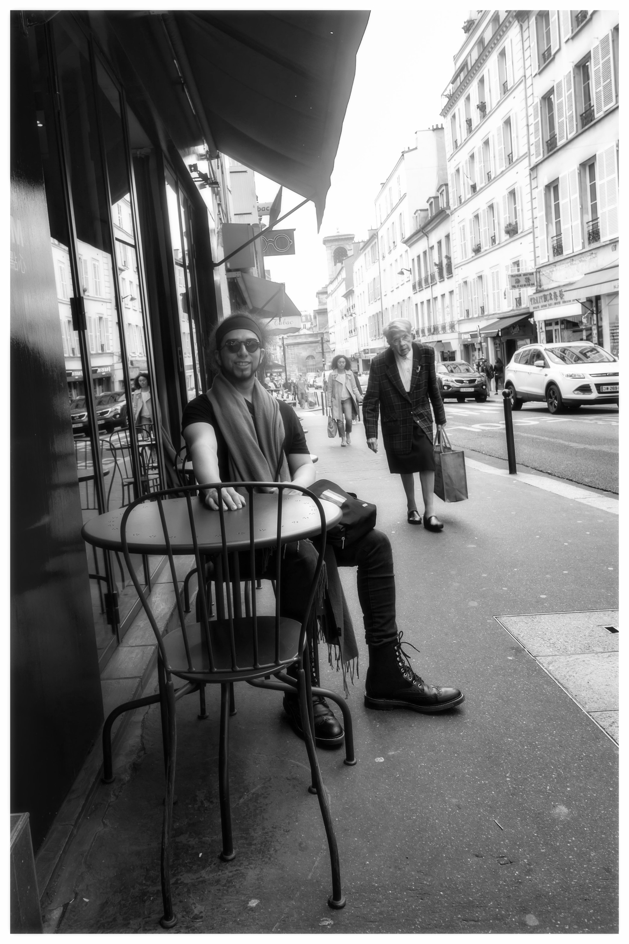'Elegant Lady with Groceries', June 2016, Paris. Photograph