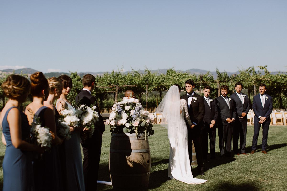 Adam & Betsy's outdoor ceremony at Trentadue Winery.