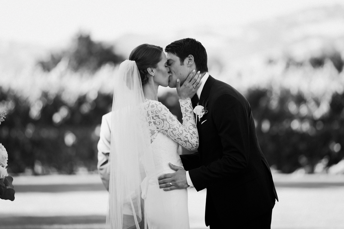 Adam & Betsy's first kiss.