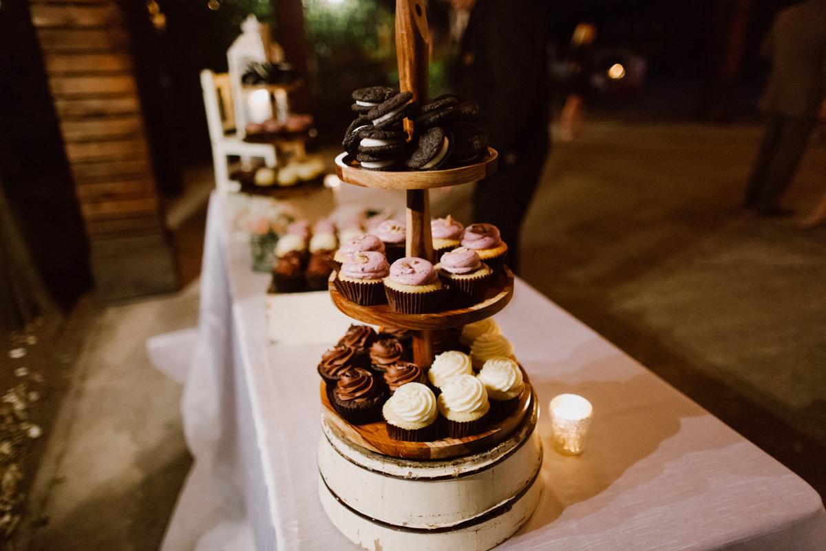 3 tier wedding cupcakes.