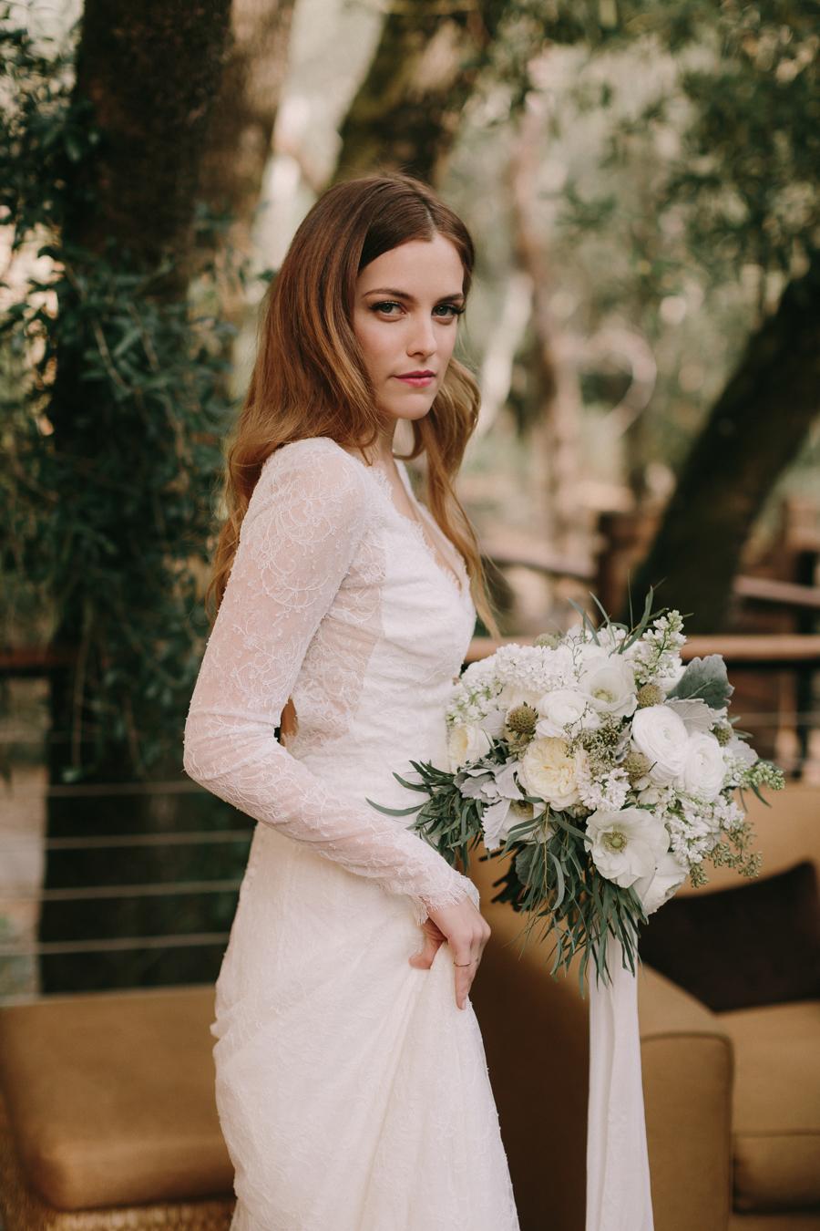 Riley Keough in her wedding dress
