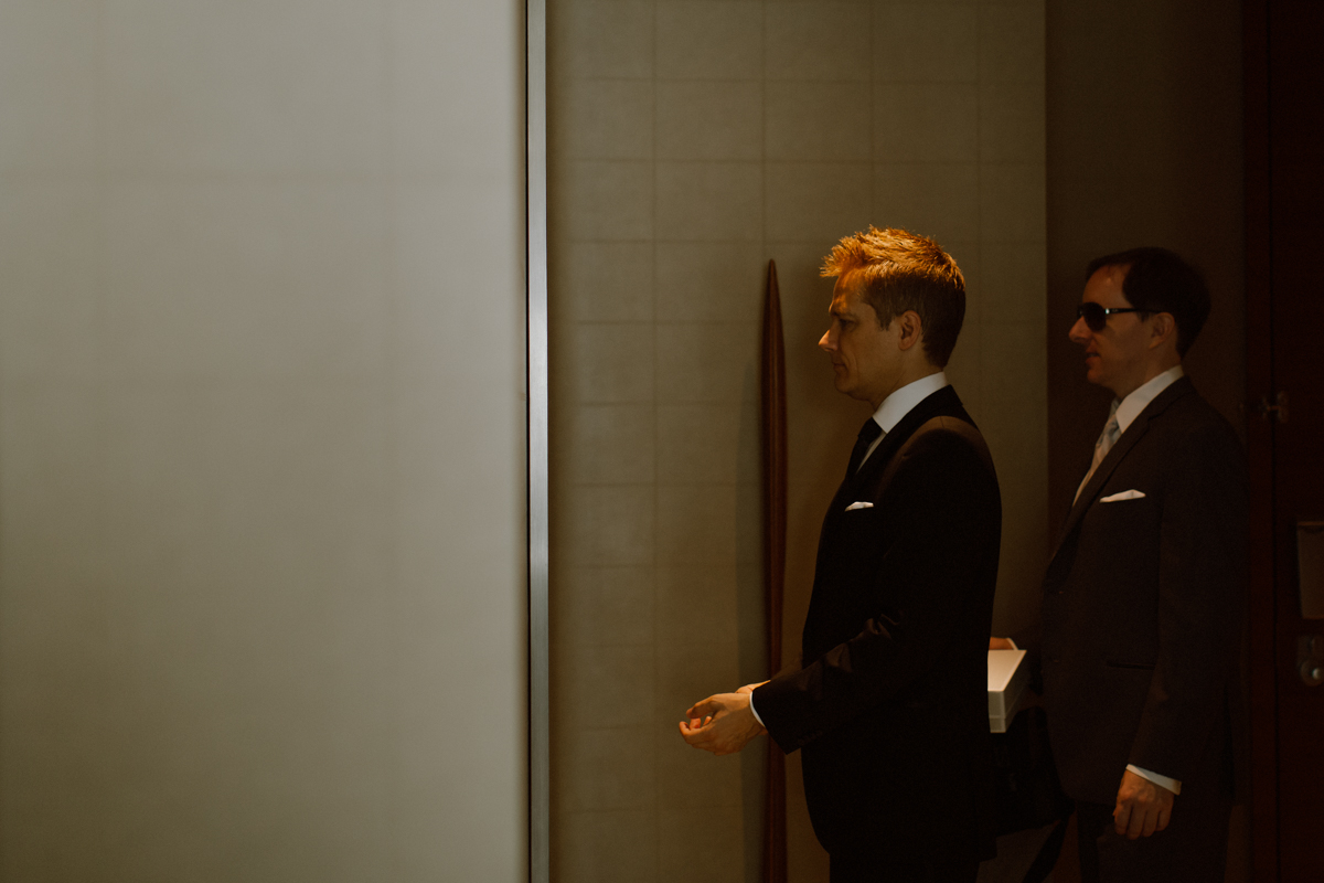 Groom getting ready at the St. Regis San Francisco.
