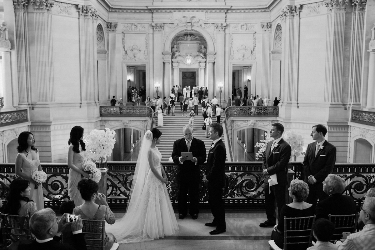 Wedding on the Mayor's Balcony at SF City Hall.