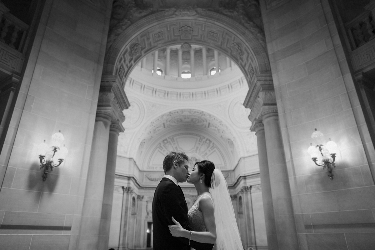 SF City Hall wedding protraits.
