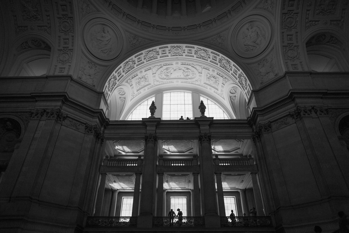 The interior of SF City Hall.