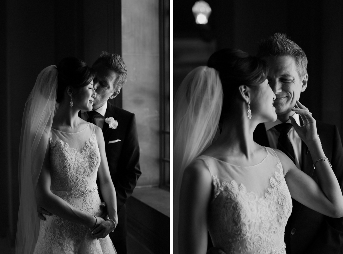 SF City Hall wedding portraits.