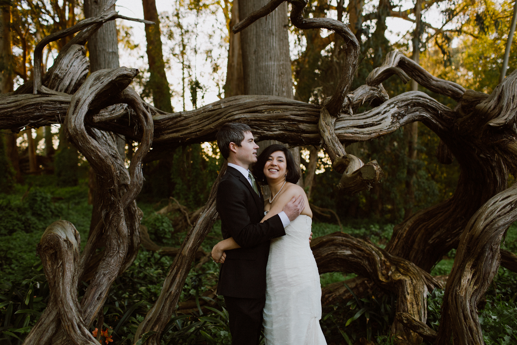 Golden Gate Park wedding portraits.