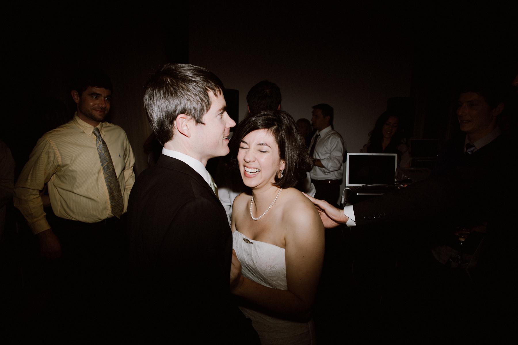 The Box SF wedding reception.