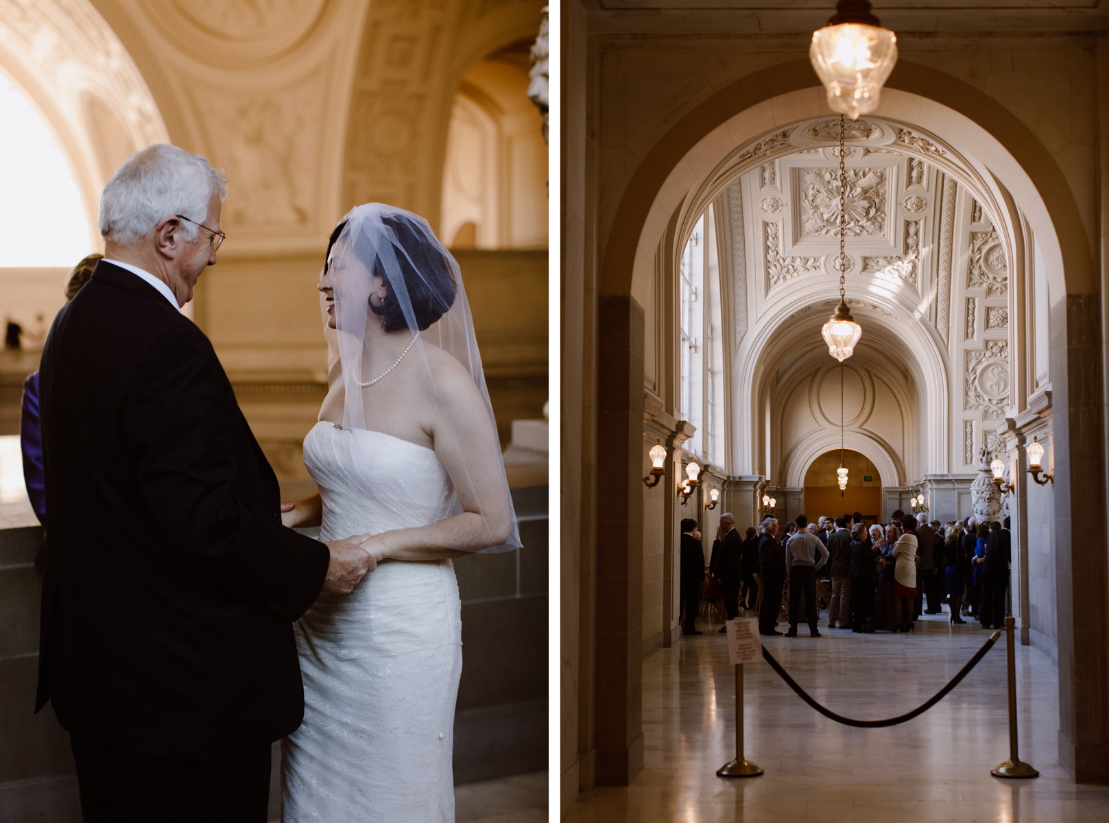 SF City Hall fourth floor wedding ceremony.