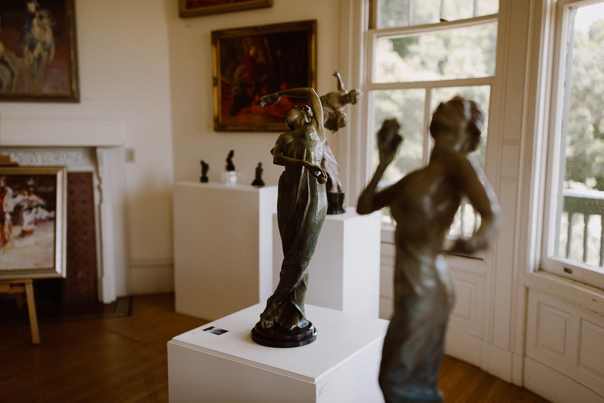 Sculptures at the Falkirk Cultural Center