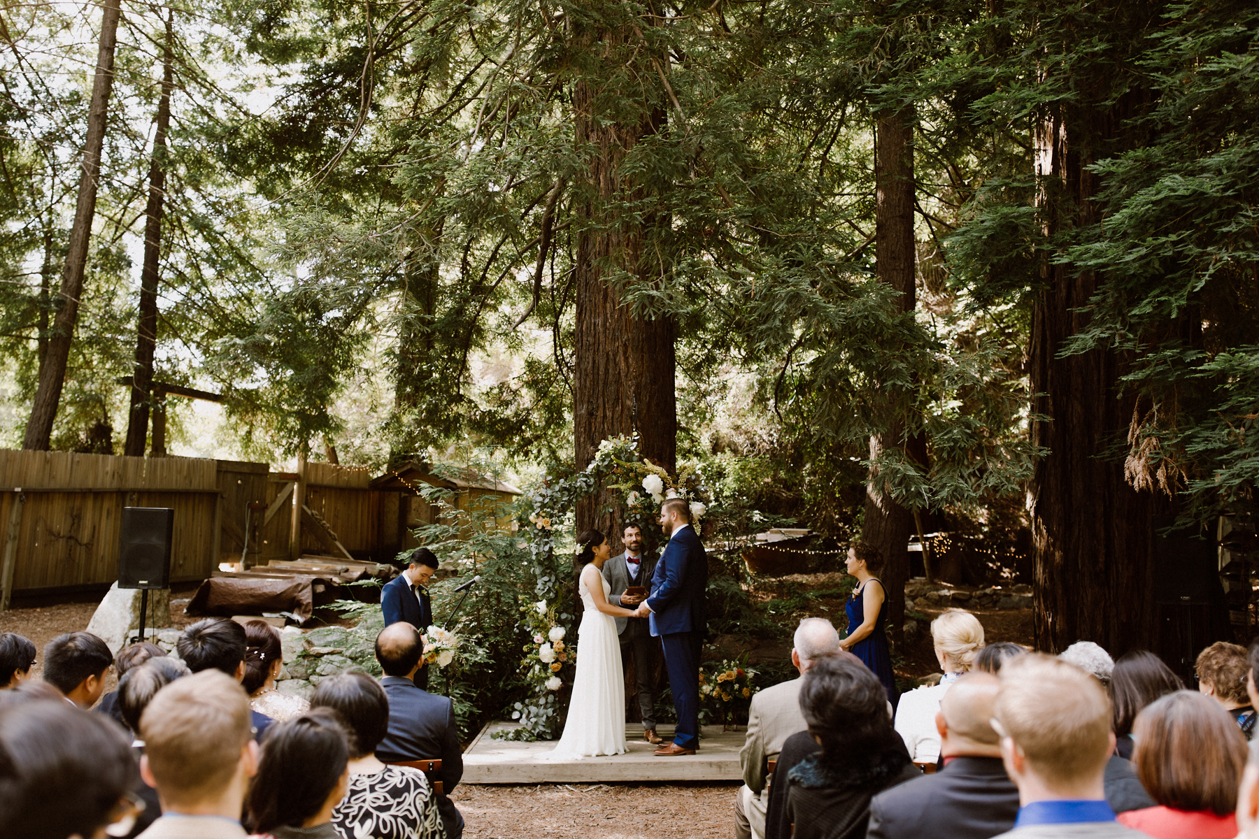 Wedding ceremony at the Henry Miller Library, Big Sur.
