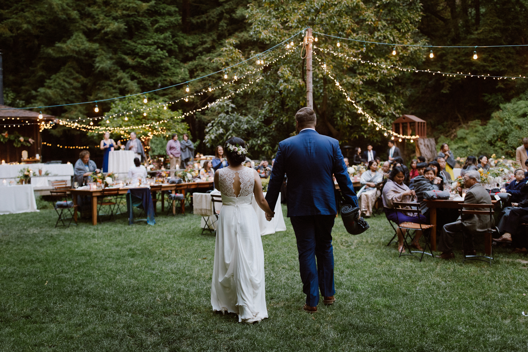 Wedding reception at the Henry Miller Library.