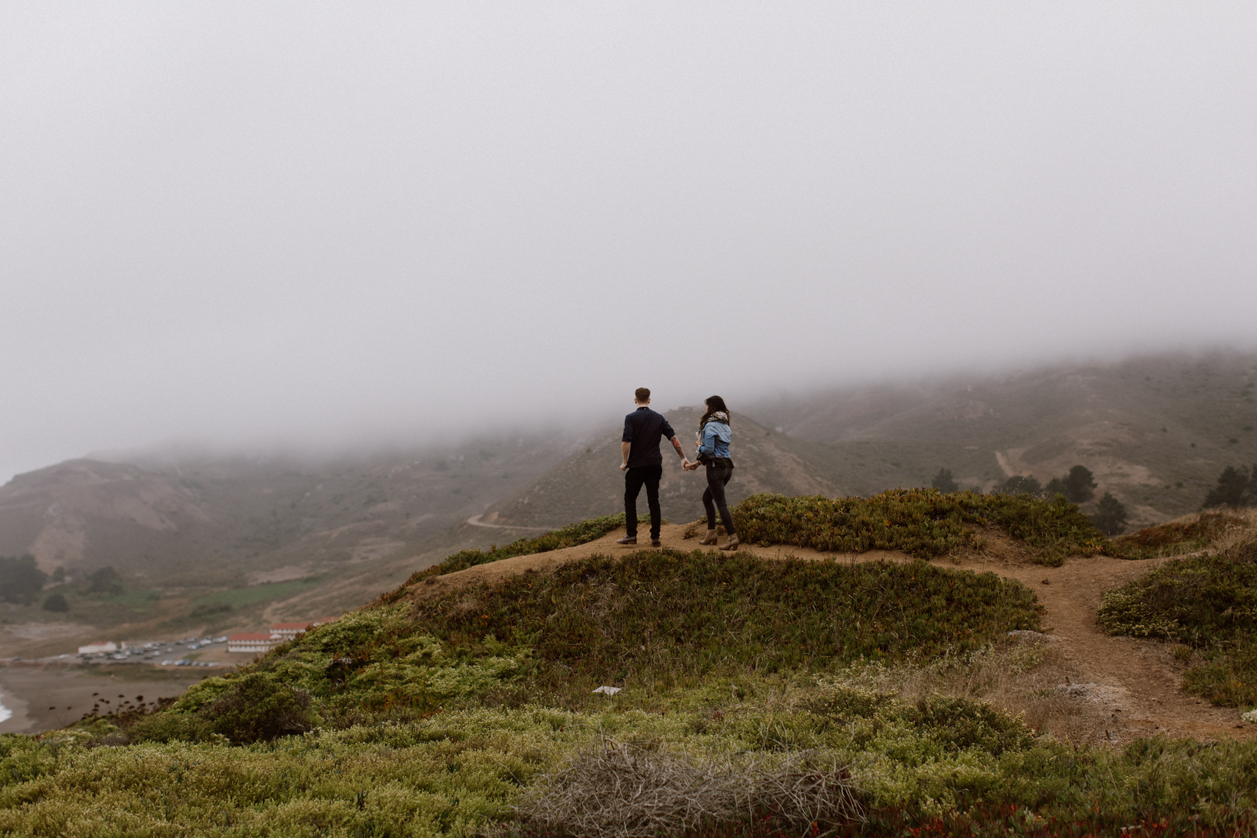 Marin Headlands engagement pictures.
