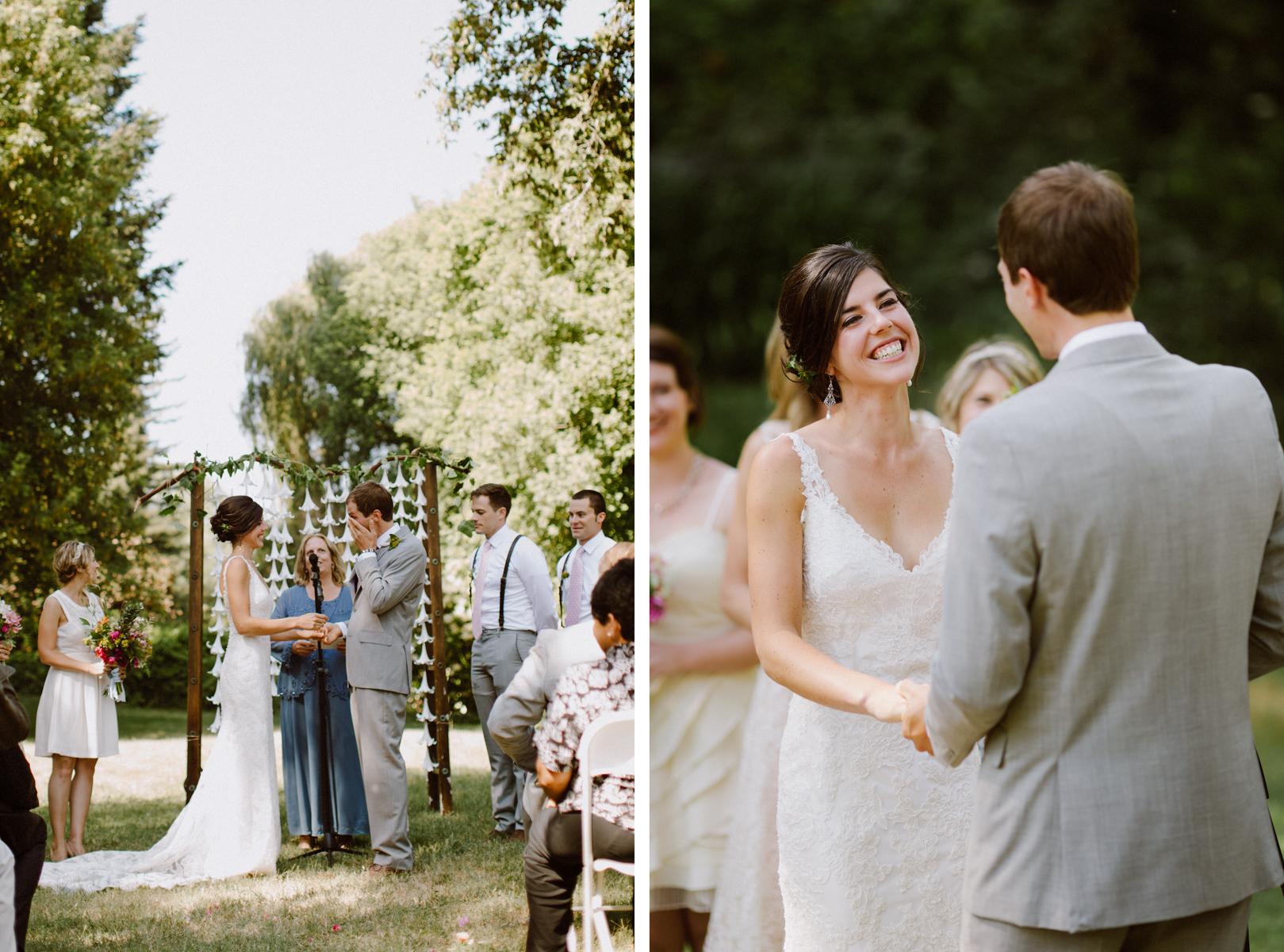 Outdoor wedding in Monte Rio, CA.