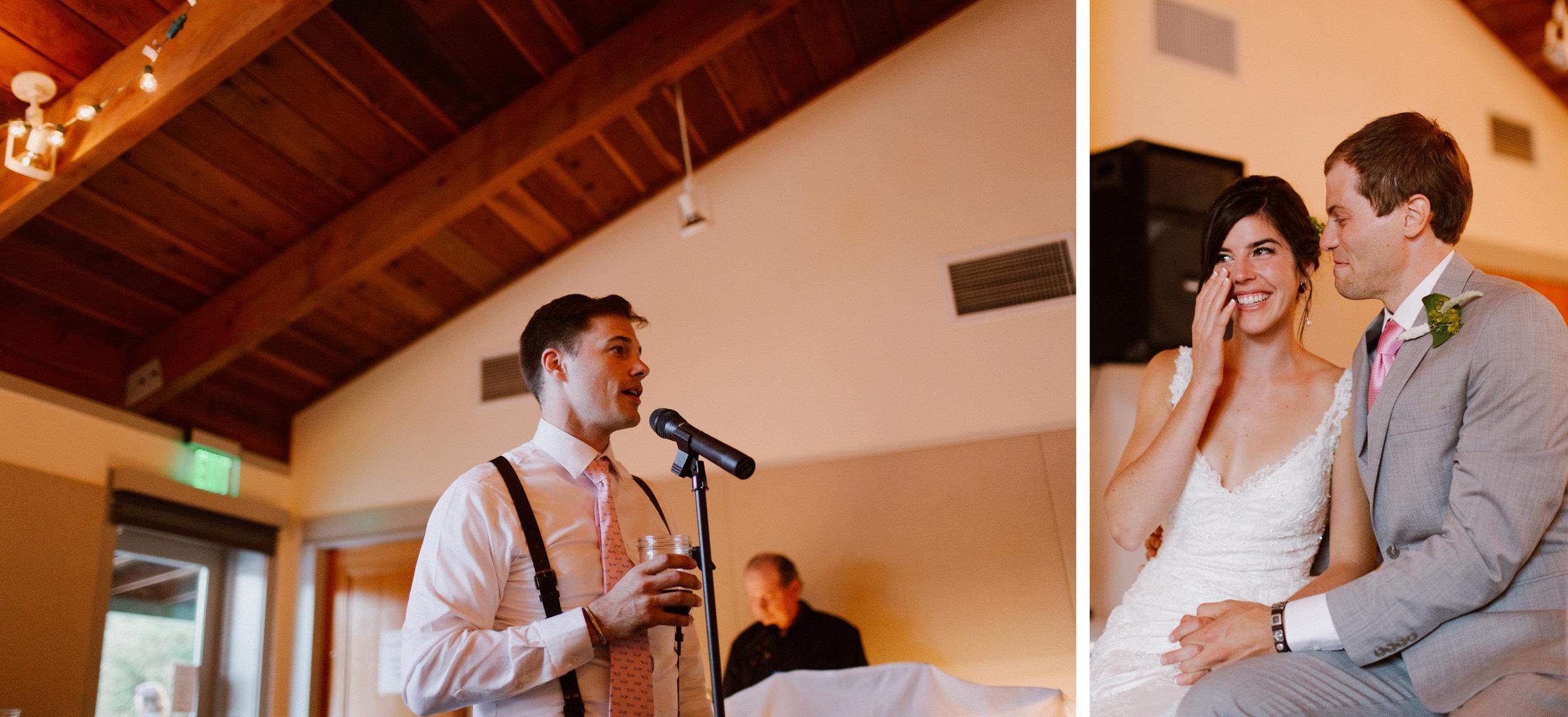 Monte Rio wedding reception.