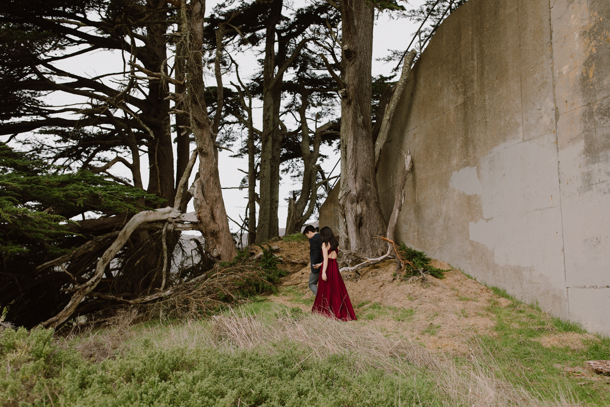 Marin Headland engagement pictures