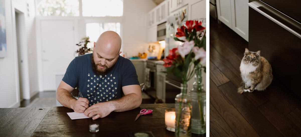 Writing wedding note