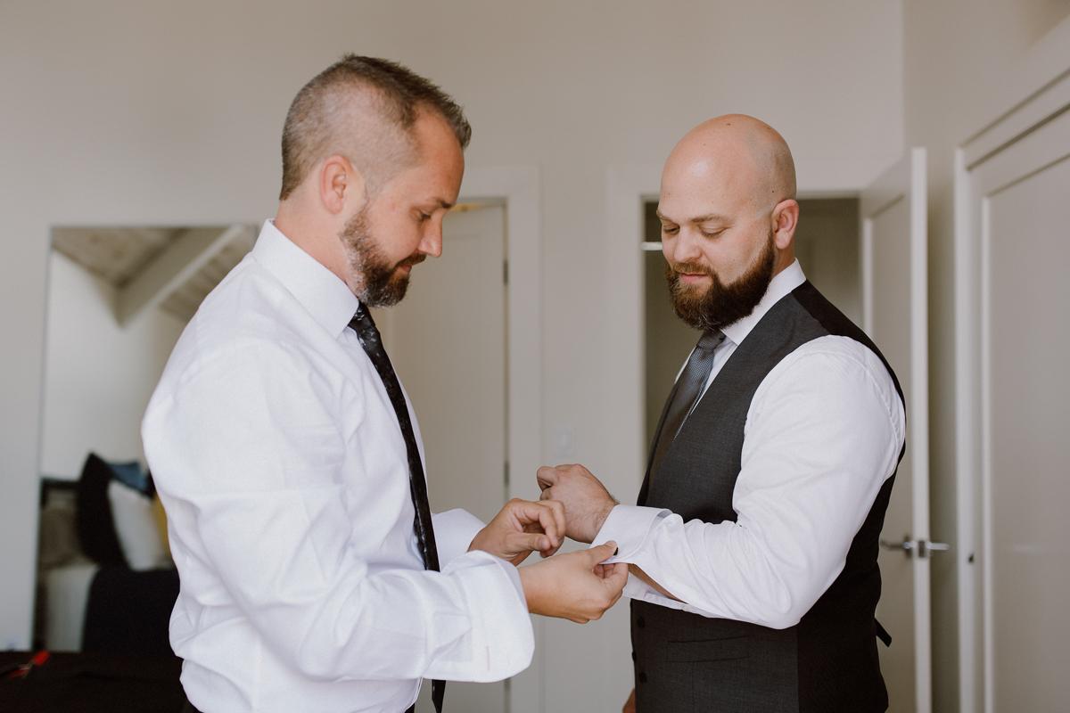 Helping same sex partner with cufflinks