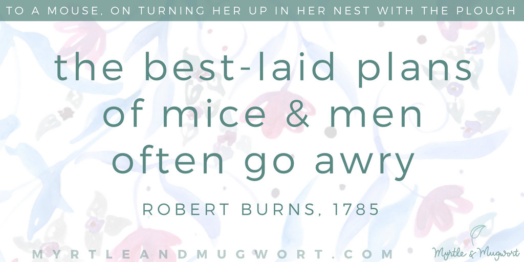 Robert Burns Quote Of Mice and Men