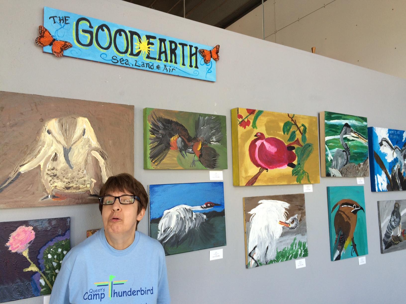 The Good Earth Exhibit of Karens paintings.JPG