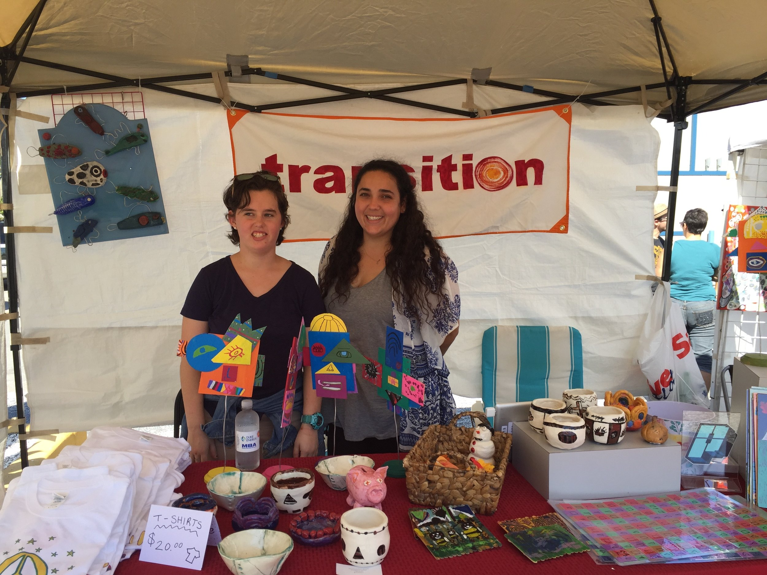 Transition tent at Creative Clay Fest at 3 Daughters Brewing in November 2018.