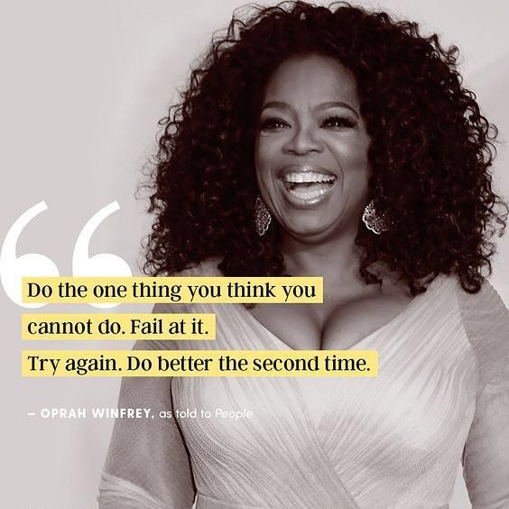 """Do the one thing you think you cannot do. Fail at it. Try again. Do better the second time"" Sending birthday wishes to our girl Oprah, our forever favourite #LadyBoss 💪 💪 💪 ⠀ .⠀ .⠀ .⠀ #oprah #legend #legendary #queen #ladyboss #boss #girlboss #stronglady #lady #femspiration #toronto #nordstrommatte #publicrelations #pr"