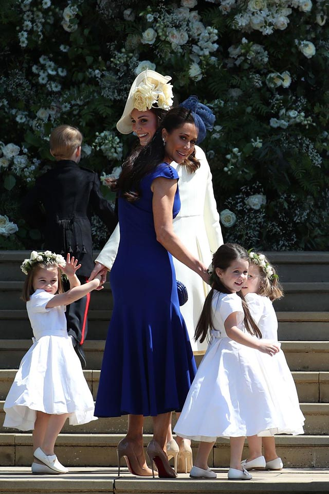 JESSICA MULRONEY wearing custom Di Carlo Couture for the Duke and Duchess of Sussex's wedding | photo by:  Getty Images