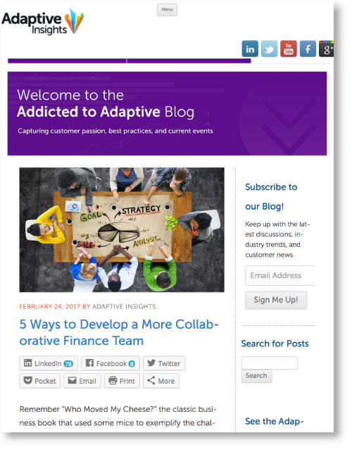 Addicted to Adaptive Blog   Adaptive Insights