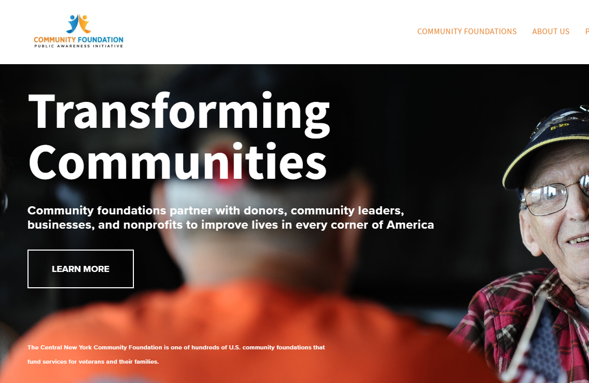 Success Story - Learn how we helped locally-focused community foundations build a national presence by developing and launching the Transforming Communities website and creating a social media strategy.