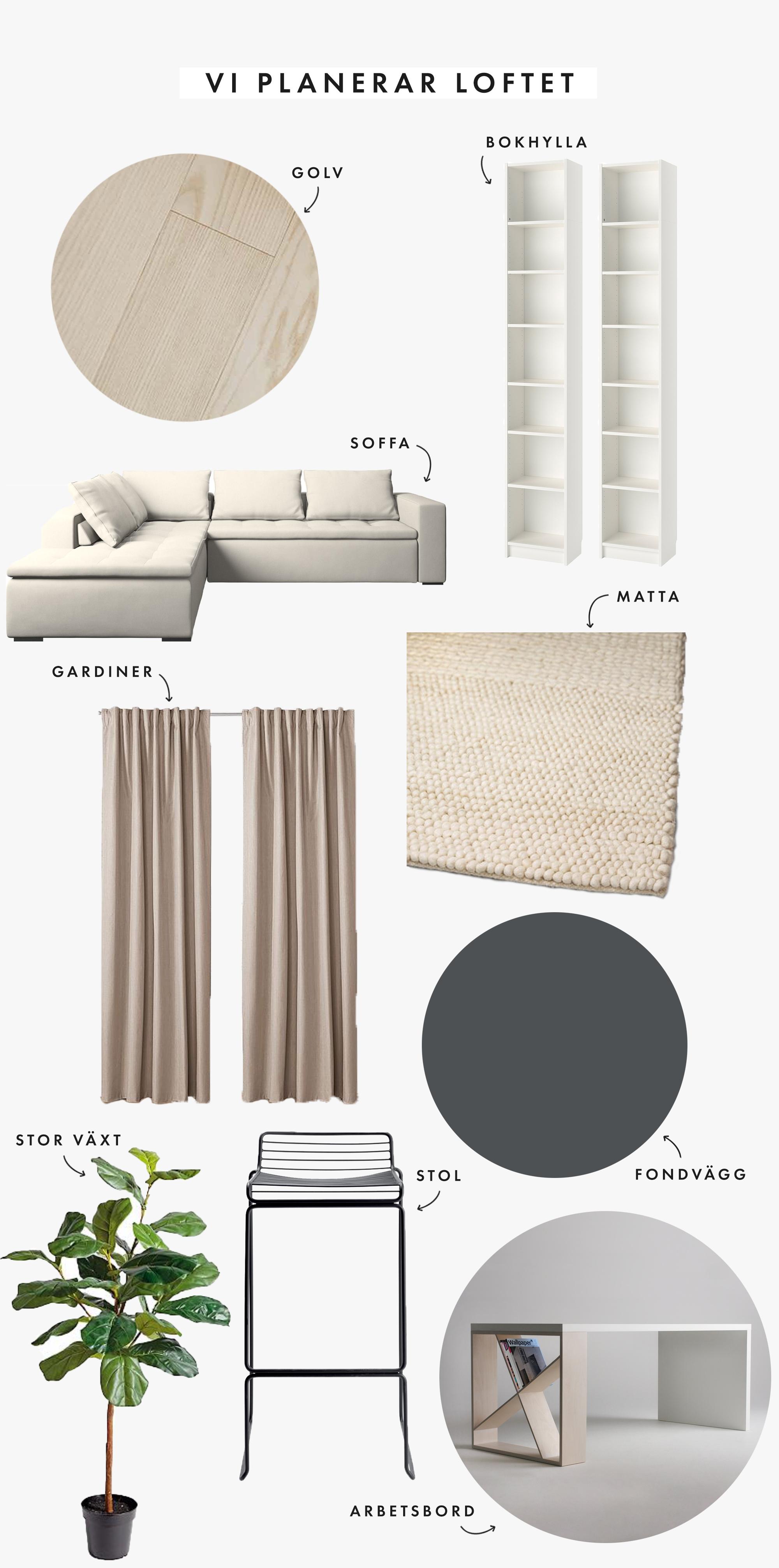 Building Home | Loftplanering | Vi planerar loftet | Inspiration board | By Sandramaria | Sandramarias.com