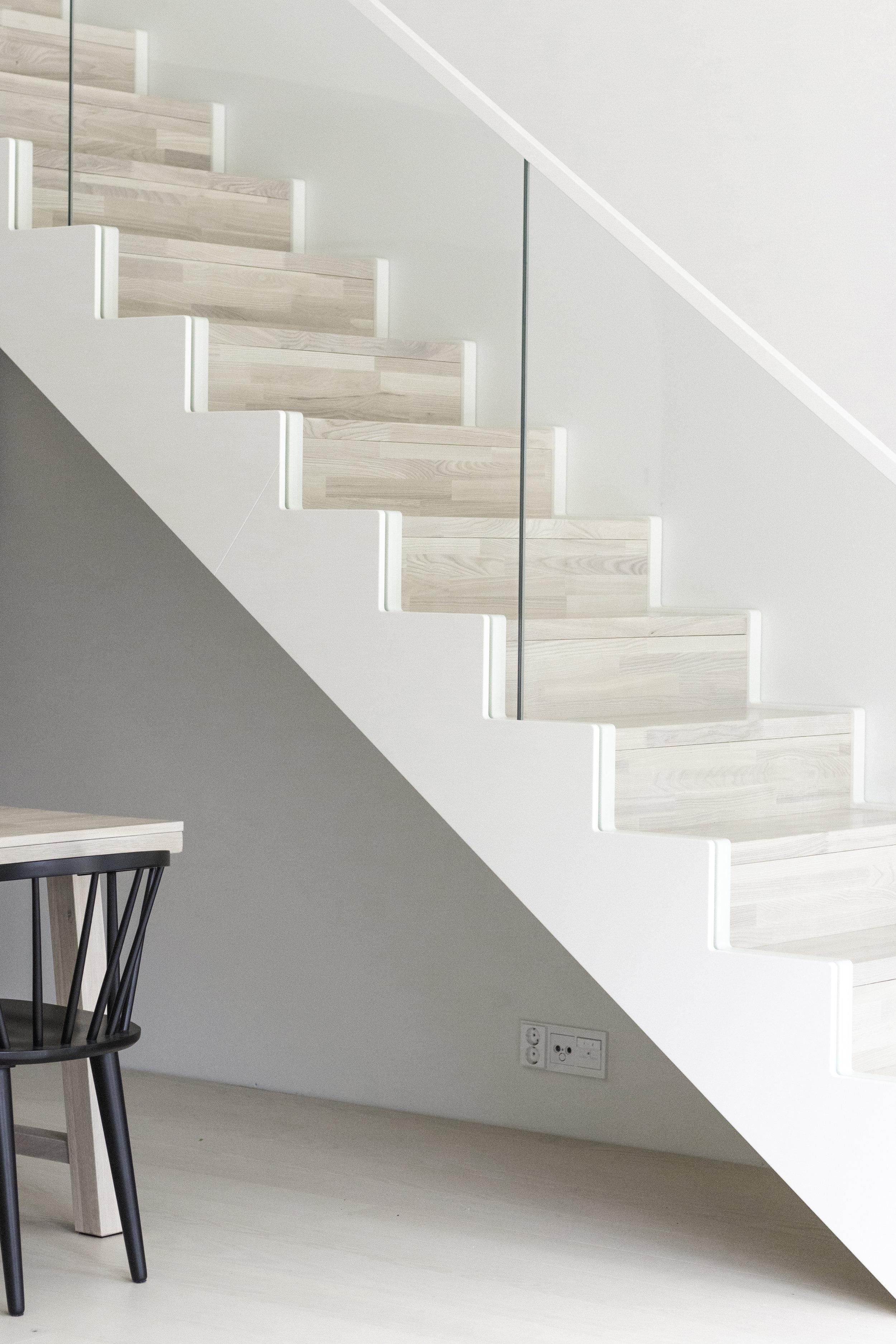 Sandra-trappan by Westwood | Scandinavian minimalistic stairs | Skandinavisk trappa | Design By Sandramaria