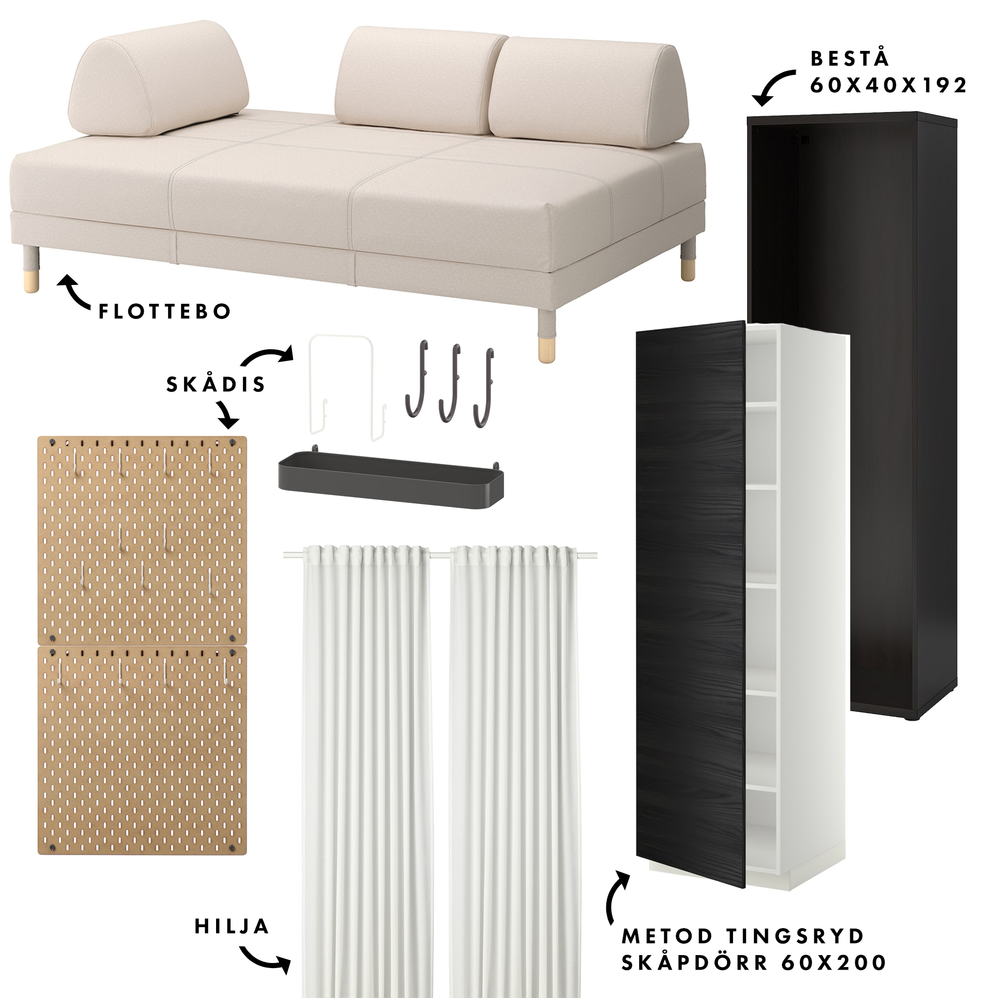 Vad vi handlade på IKEA – vi gick all in! | Loft: Gästrum & Arbetsrum | Lifestyle by Sandramaria | Sandramarias.com