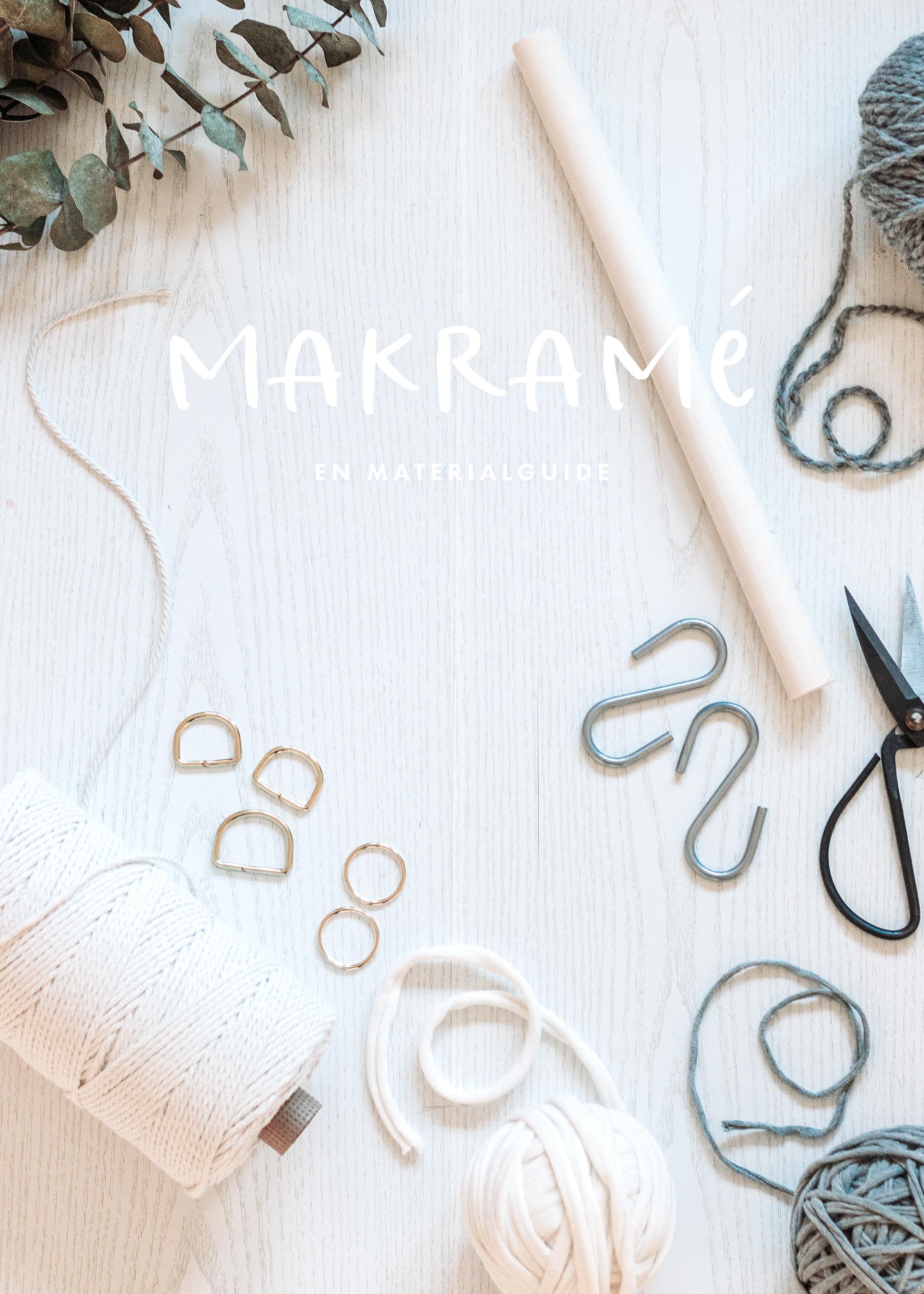 Vad du behöver för att knyta makramé   Makramématerial   Bra Makramégarn   Makers Mail by Sandramaria   Sandramarias.com