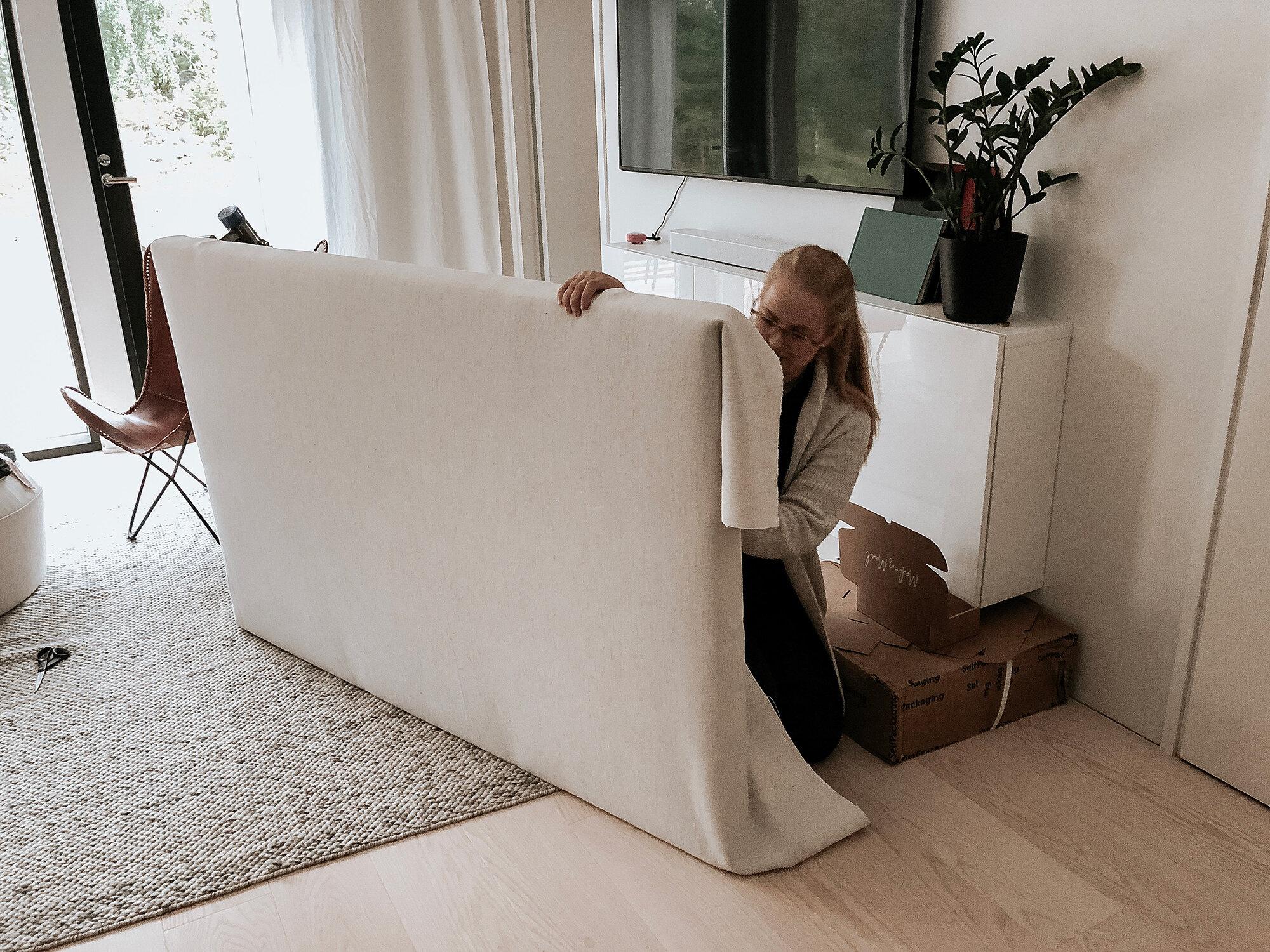 DIY: Klä om din sänggavel | Scandi interior design by Sandramaria