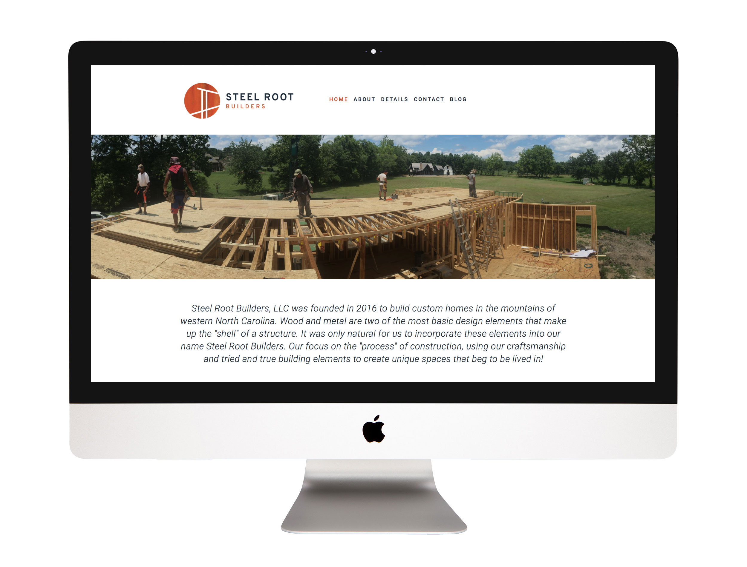 Website Design,  steelrootbuilders.com