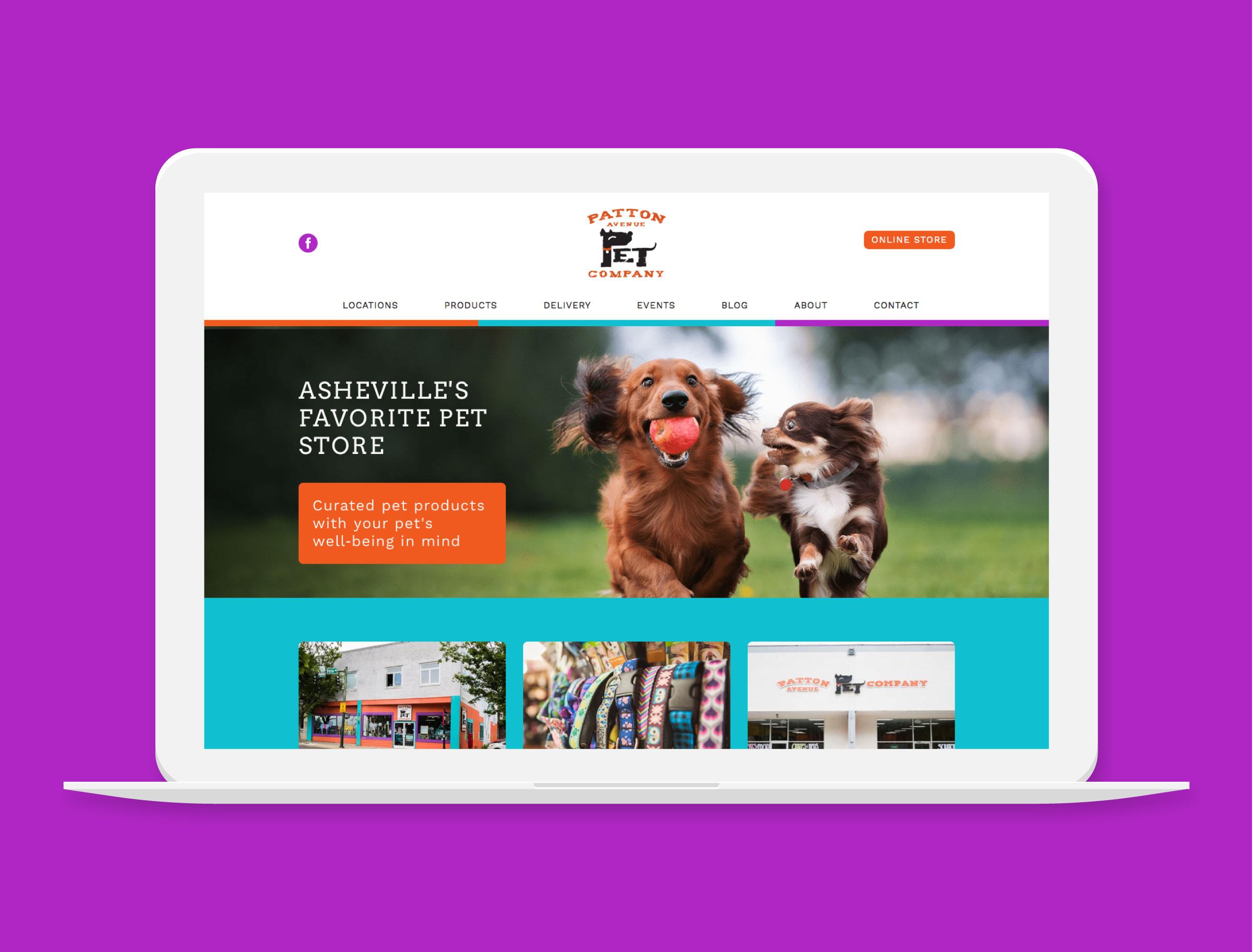 Patton Avenue Pet Company   Asheville Pet Supply Store   Project Details *built in Wordpress*   Visit Website