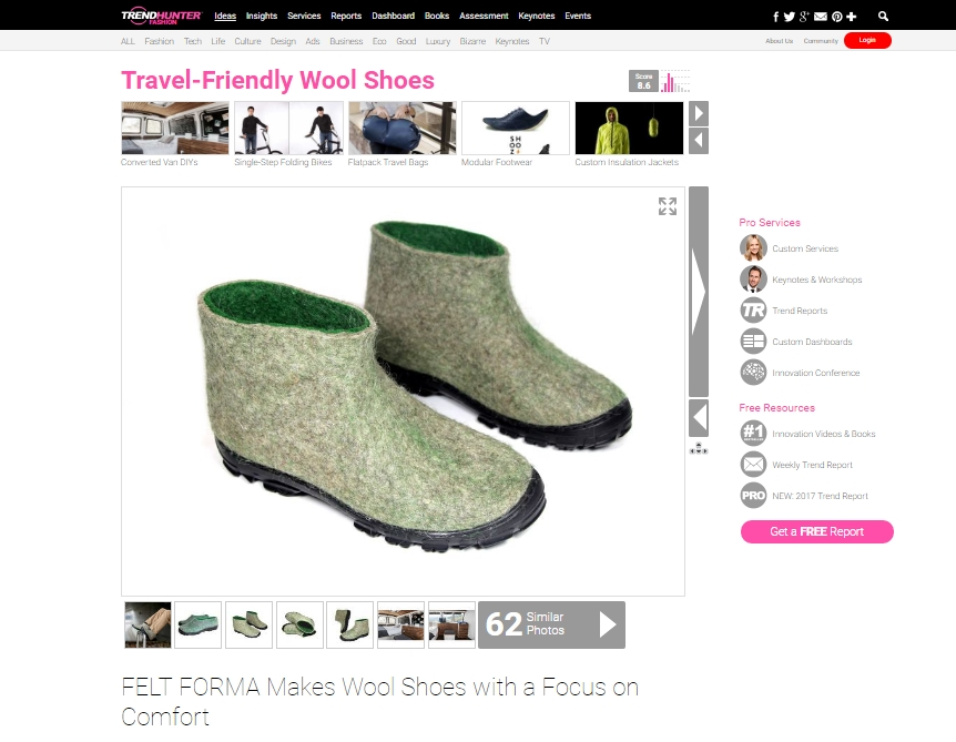FELT FORMA Makes Wool Shoes with a Focus on Comfort