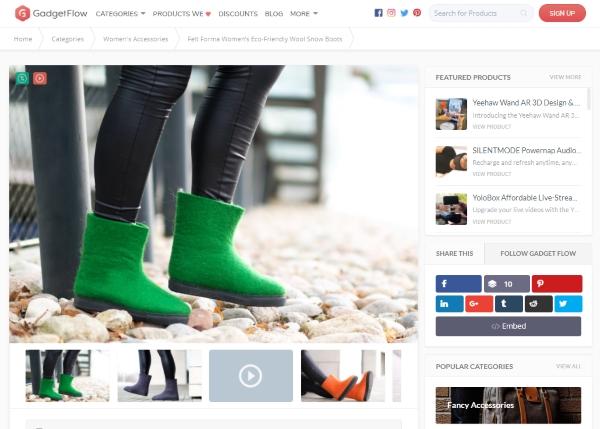 Felt Forma Women'sEco-Friendly Wool Snow Boots - Gadget Flow