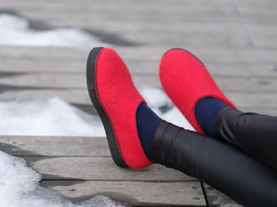 FELT FORMA organic wool loafer boots - custom colors - organic wool