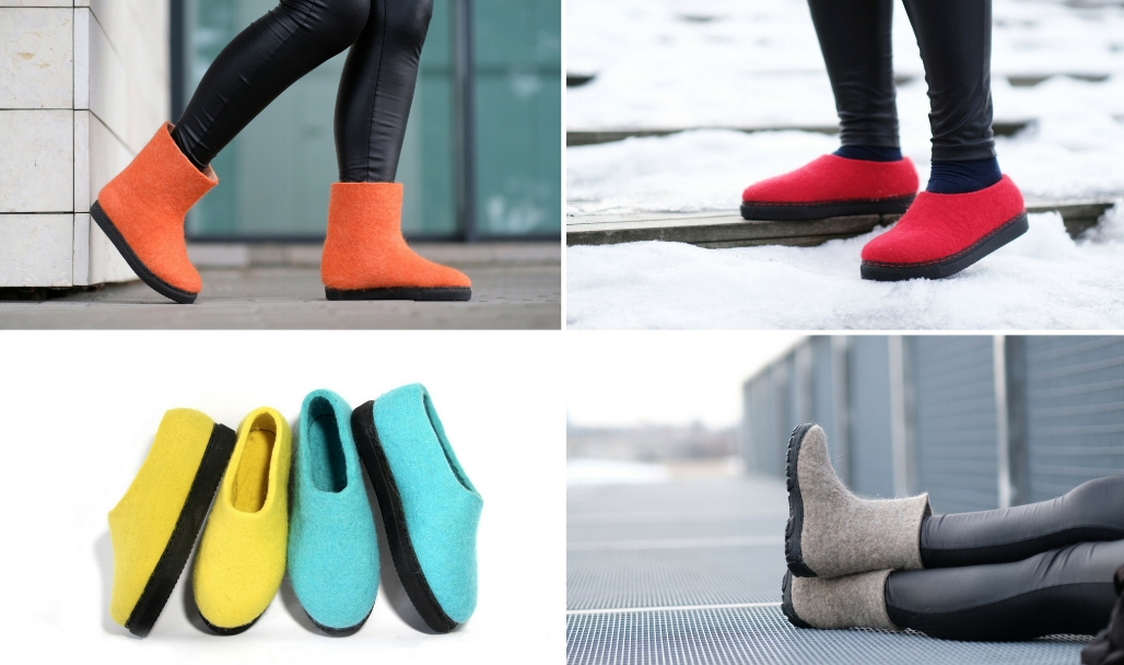 FELT FORMA wool boots, felt loafers customize your self