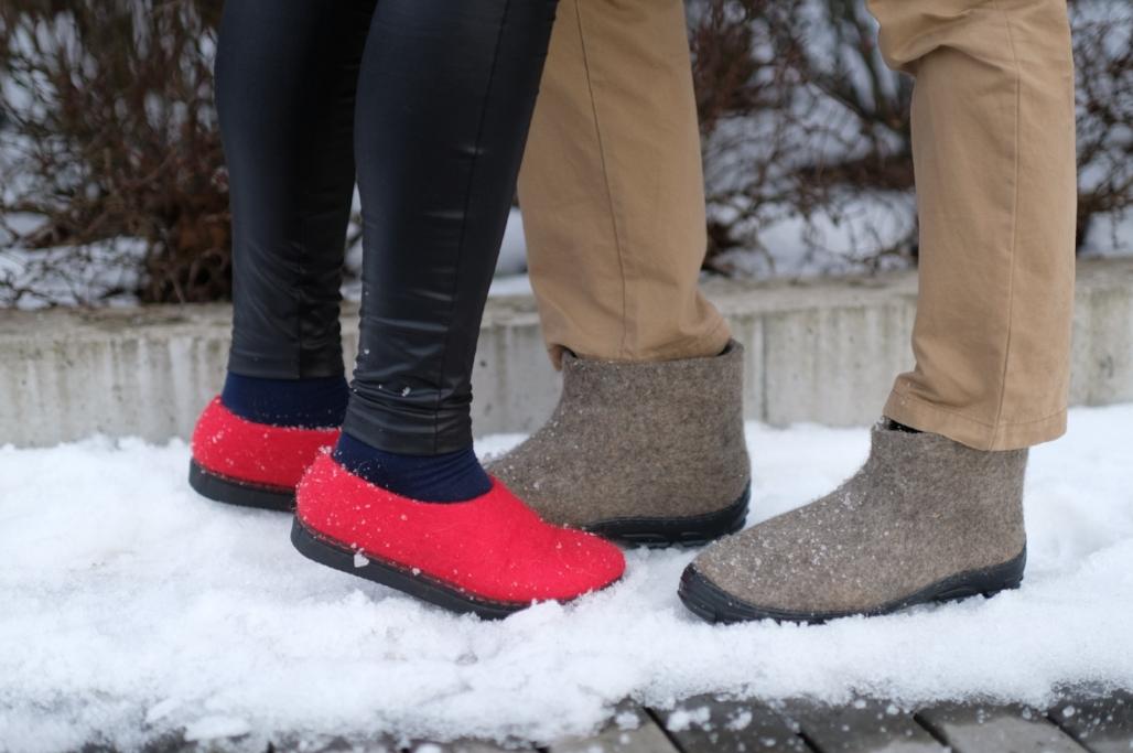 FELT FORMA customize wool boots and felt shoes