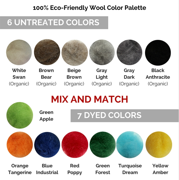 Customized wool boots and felt shoes color palette - FELT FORMA
