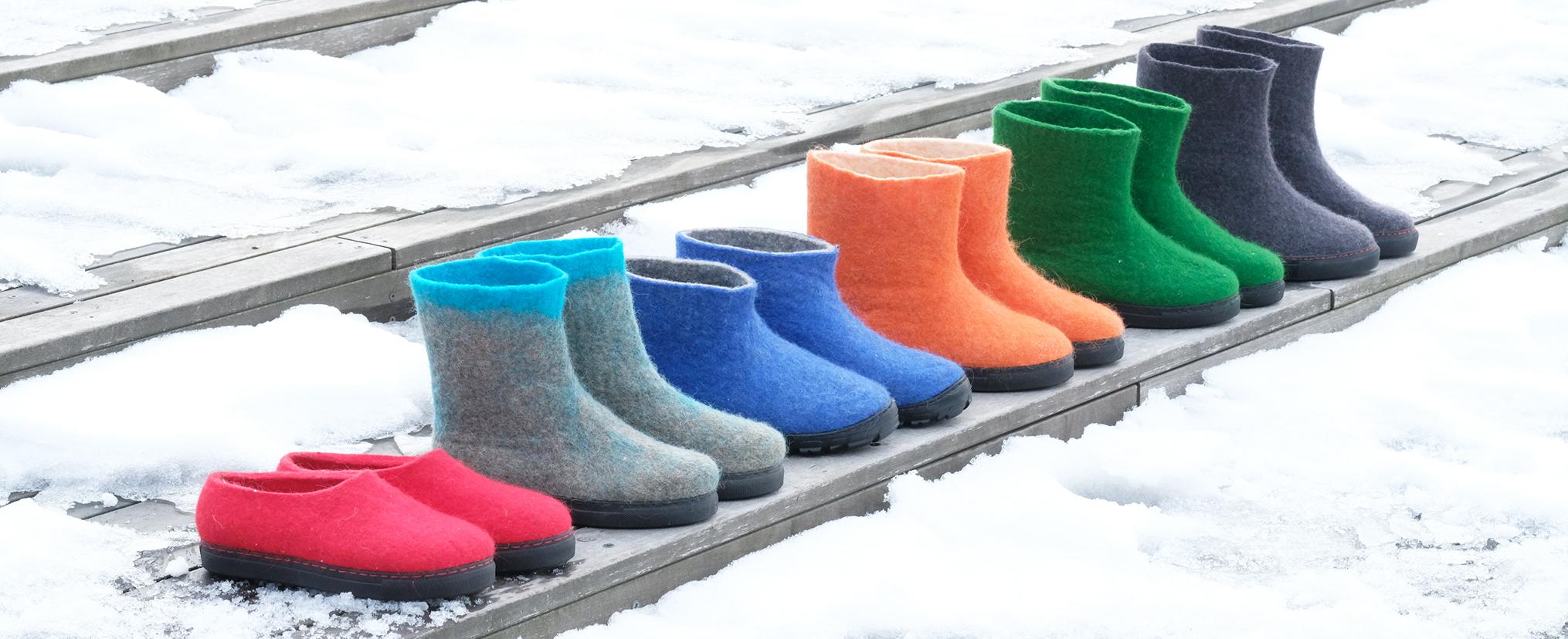Handmade Wool Boots and Felt Shoes House Shoes - FELT FORMA