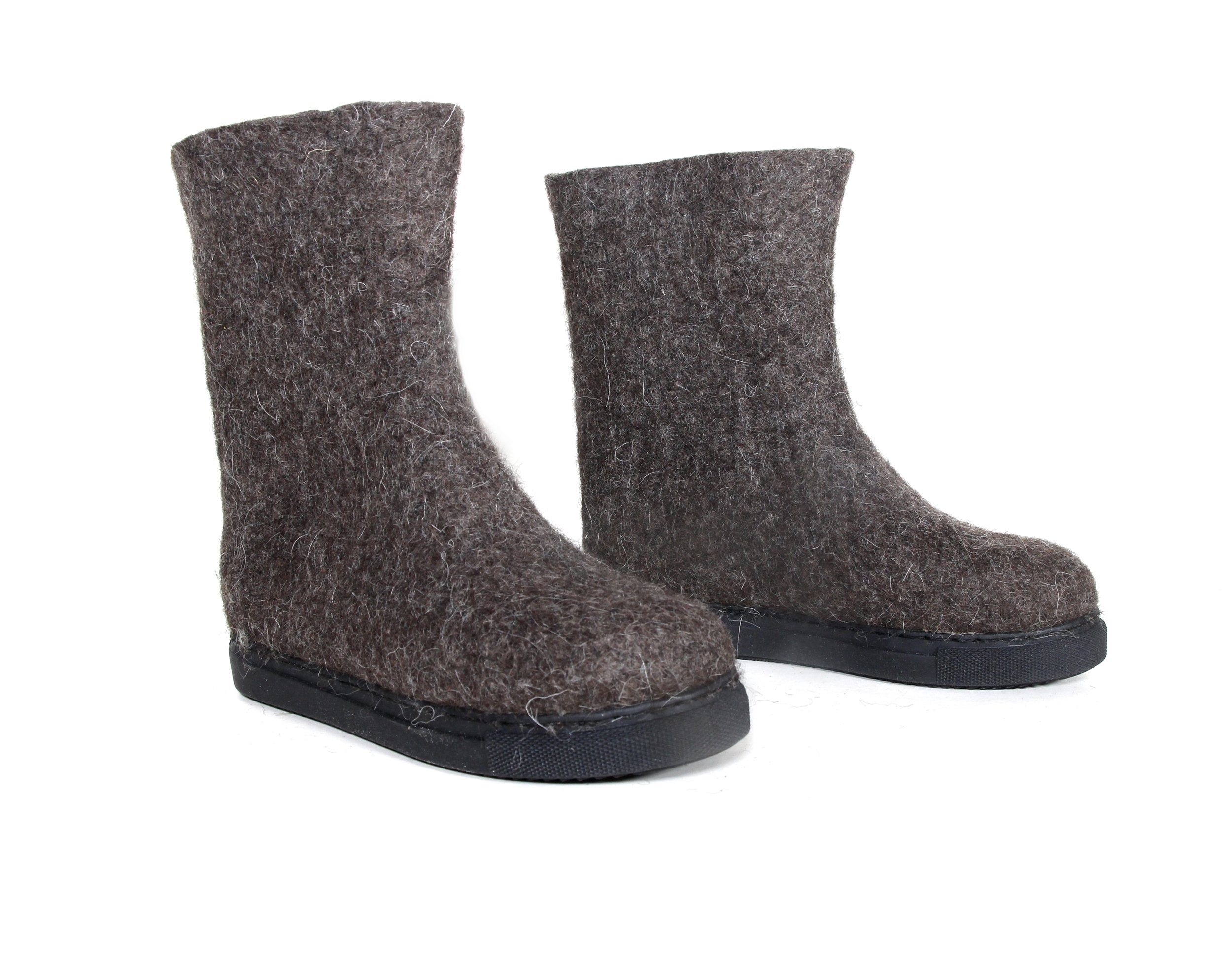 Womens Organic Felt Boots Mountain Lounge